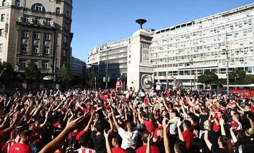 Χαμός στο Βελιγράδι από Ολυμπιακούς και Σέρβους (vids)