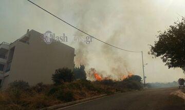 Κινδύνεψαν σπίτια από φωτιά στο Ρέθυμνο