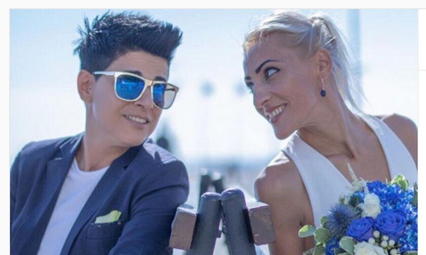 Kύπρος: Η σκοπεύτρια Άντρη Ελευθερίου νυμφεύθηκε τη γυναίκα της ζωής της (pics)
