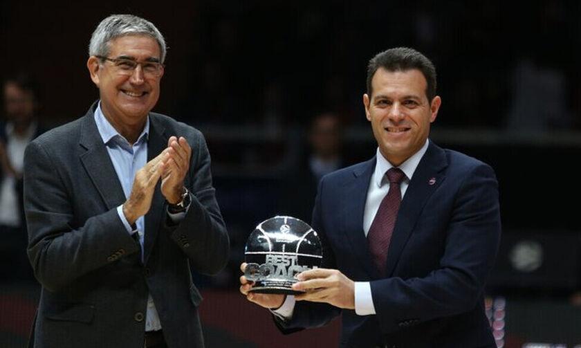 Πήρε το βραβείο του καλύτερου προπονητή της Euroleague ο Ιτούδης (vid)