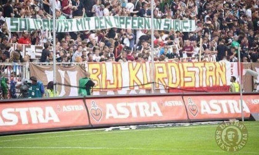 Οι οπαδοί της Ζανκτ Πάουλι απαίτησαν λόγω Συρίας την αποπομπή του Τούρκου Σαχίν (pic)