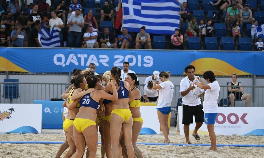 Έβδομη στα World Beach Games η Εθνική Γυναικών