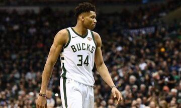Οι General Managers του NBA ψήφισαν για MVP του 2020 τον Αντετοκούνμπο