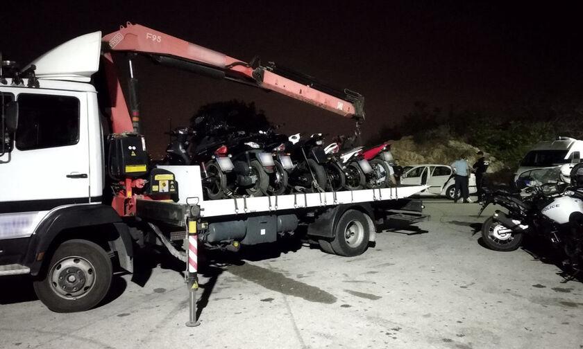 Η αστυνομία «μάζεψε» μηχανές στο Λυκαβηττό