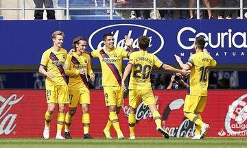 Εϊμπάρ - Μπαρτσελόνα 0-3: Πάρτι από Μέσι, Σουάρες, Γκριεζμάν (highlights)