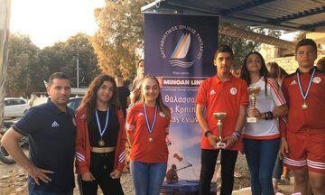 Μετάλλια και διακρίσεις στην Κρήτη για την Ακαδημία Ιστιοπλοΐας του Ολυμπιακού