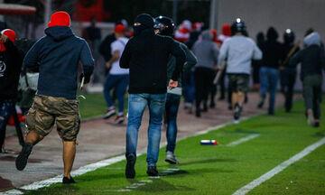 Εισβολή χούλιγκανς στο Ρέντη κατά τη διάρκεια του Ολυμπιακός - Μπάγερν! (vid)