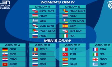Ευρωπαϊκό Πρωτάθλημα πόλο ανδρών-γυναικών: Οι αντίπαλοι των Εθνικών μας ομάδων