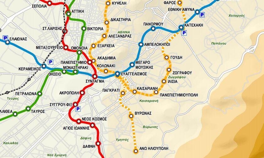 Μετρό σε Μαρούσι, Ψυχικό, Γουδή, Πετρούπολη, Εξάρχεια, Γαλάτσι, Καισαριανή, Ζωγράφου, Κυψέλη