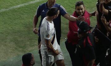 Ιμπραΐμοβιτς: Η άσεμνη χειρονομία στο τελευταίο του ματς στο MLS (vid)