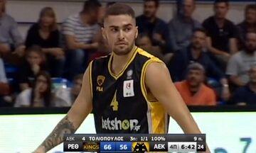 ΑΕΚ: Ο Τολιόπουλος έβαλε τρίποντο και είπε στον Παπαθεοδώρου: «Μη με βάζεις μ...κα» (vid)