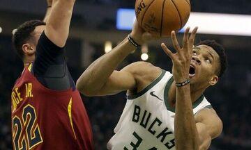 Άνετα οι Μπακς τους Καβαλίερς - Τα αποτελέσματα του NBA