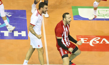 Volley League ανδρών: ΠΑΟΚ-Ολυμπιακός 0-3: Με Χουσάι 20 αστέρων (vid)