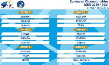 Πινγκ πονγκ: Η κλήρωση για τις εθνικές μας ομάδες στα προκριματικά του Euro 2021
