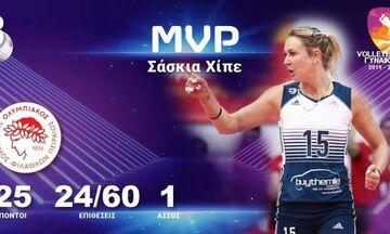 Ολυμπιακός: MVP της 3ης αγωνιστικής η Χίπε