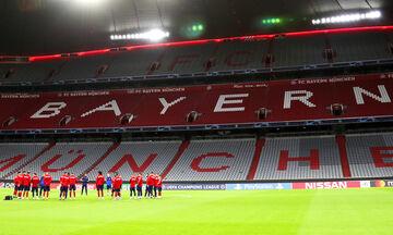 H προπόνηση του Ολυμπιακού στο επιβλητικό Allianz Arena (vid + pics)