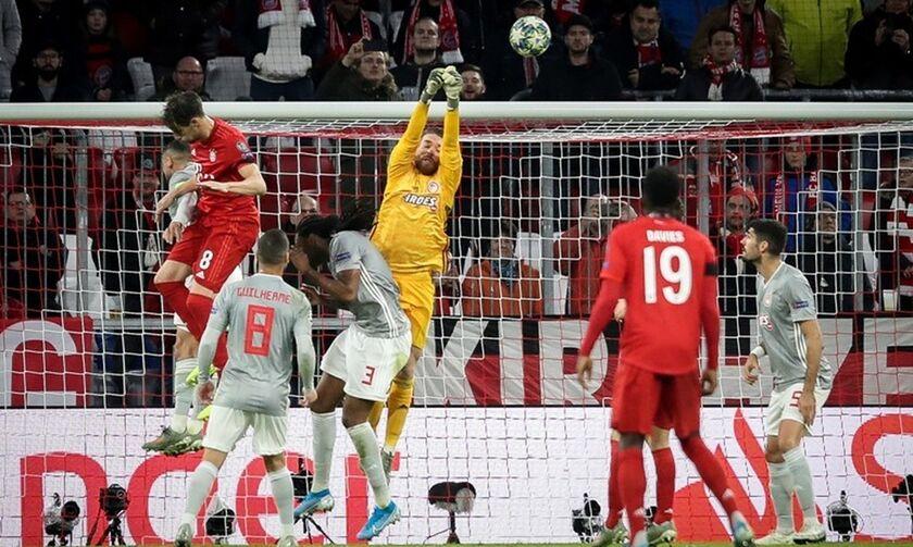 Μπάγερν – Ολυμπιακός 2-0: Άντεξε χάρη στον Σα για 69 λεπτά