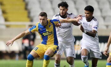 ΑΠΟΕΛ - Καραμπάγκ: Το γκολ του Λούκας για το 1-1 (vid)