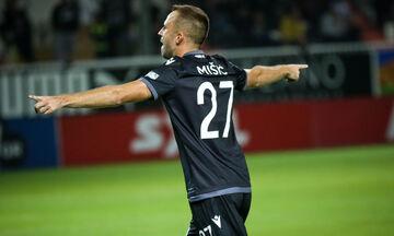 ΟΦΗ-ΠΑΟΚ : Το γκολ του Μίσιτς για το 0-1 (vid)