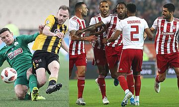Super League 1: Για τη νίκη κορυφής ο Ολυμπιακός, ντέρμπι Παναθηναϊκού - ΑΕΚ