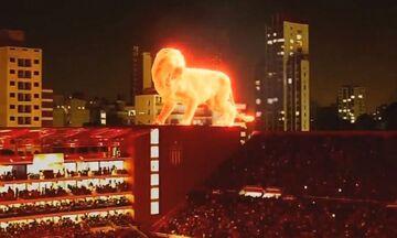 Εστουντιάντες: Ένα «πύρινο» λιοντάρι φυλάει την έδρα της! (vid)