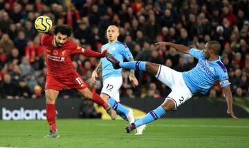 Λίβερπουλ - Μάντσεστερ Σίτι: Τα γκολ των  Φαμπίνιο , Σαλάχ