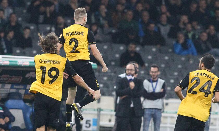 Παναθηναϊκός - ΑΕΚ: Το γκολ του Μπακάκη για το 0-1 (vid)