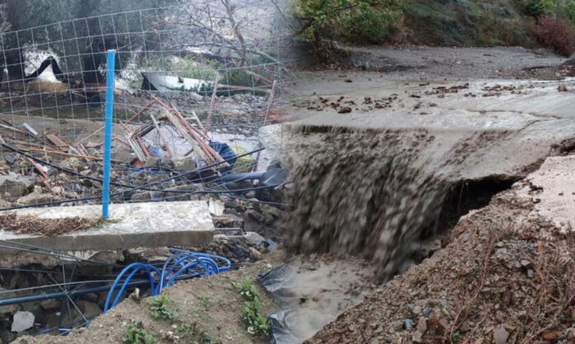Μεγάλες καταστροφές στα Χανιά λόγω της κακοκαιρίας (pics, vid)