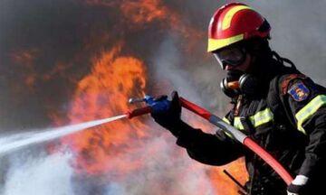 Πυρκαγιά σε δύσβατο σημείο στον Μαραθώνα