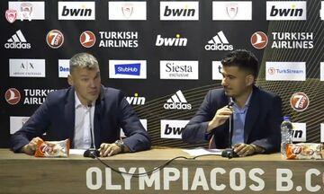 Γιασικεβίτσιους: «Στο πρώτο ημίχρονο μείναμε ζωντανοί γιατί ο Ολυμπιακός δεν έβαζε τρίποντα»