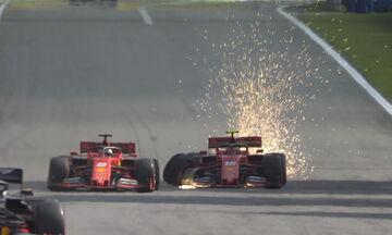 Grand Prix Βραζιλίας: Η στιγμή που οι δύο Ferrari συγκρούονται μεταξύ τους! (vid)