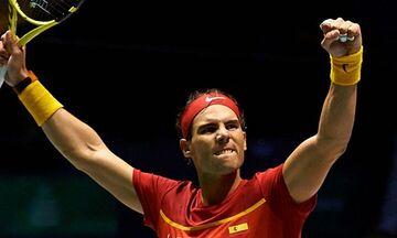 Νίκη και απίστευτο ρεκόρ για τον Ναδάλ στο Davis Cup