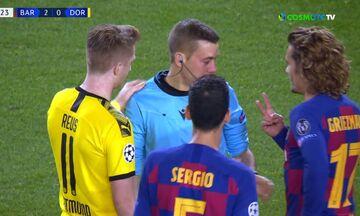 Μπαρτσελόνα - Ντόρτμουντ: Η μπάλα χτύπησε τον διαιτητή αυτός ζαλίστηκε και έπεσε!
