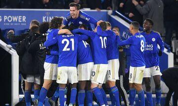 Premier League: Η Λέστερ 2-1 την Έβερτον στο 94΄ και συνεχίζει το κυνήγι της Λίβερπουλ (highlights)