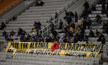 Το πανό στήριξης της ΑΕΚ στα θύματα του σεισμού στην Αλβανία (vid)