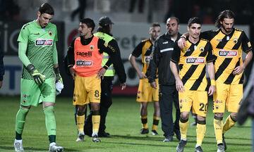 Οι παίκτες  της ΑΕΚ ζητούσαν συγγνώμη και οι οπαδοί τους αποδοκίμαζαν (vid)