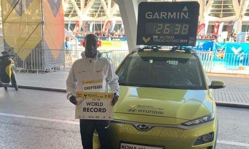 Nέο παγκόσμιο ρεκόρ στα 10 χιλιόμετρα από τον Τσεπτέγκι στη Βαλένθια