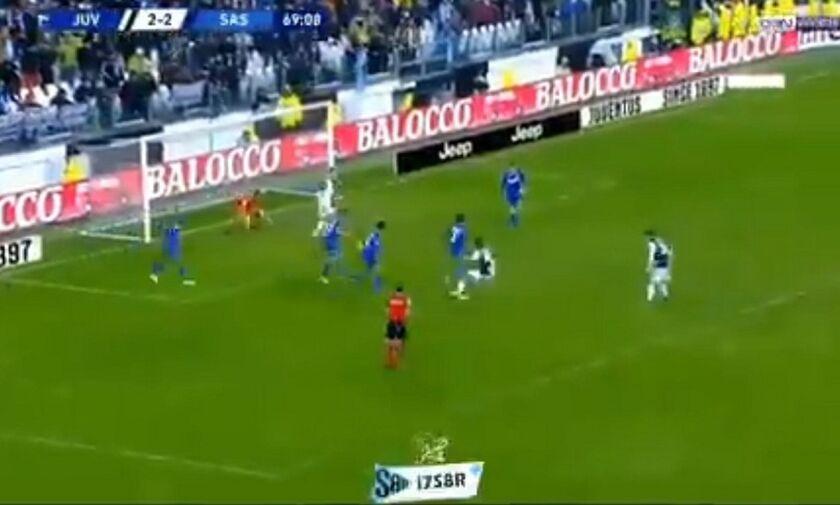 Γιουβέντους: Ο Ρονάλντο μπλόκαρε άθελα του γκολ του Ντιμπάλα(vid)