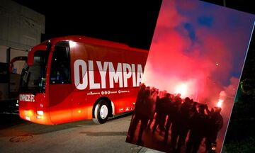 Παναιτωλικός-Ολυμπιακός: Θερμή υποδοχή του Ολυμπιακού στο Αγρίνιο (vid)