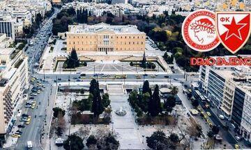 Ολυμπιακός - Ερυθρός Αστέρας: Live: «Κοκκινίζει» το Σύνταγμα! (pics & vids)