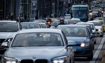 Μποτιλιάρισμα σε κεντρικούς δρόμους της Αθήνας