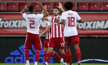 Ολυμπιακός-ΑΕΛ: Τα γκολ των Μασούρα και Σουντανί για το 3-0 (vids)