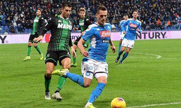 Serie A: Διπλό στο 90' για τη Νάπολι, 2-1 τη Σασουόλο (αποτελέσματα, βαθμολογία)