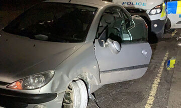 Μεθυσμένος οδηγούσε χωρίς λάστιχο! (pic)
