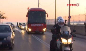 Βίντεο με την άφιξη του Ολυμπιακού στην Καλαμάτα