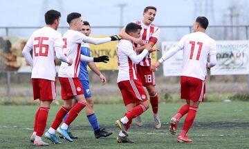 Super League K19: Πέρασε από τη Λαμία ο Ολυμπιακός με 3-1