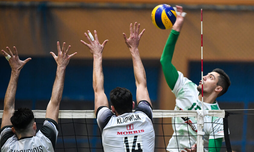 LIVE Streaming: Παναθηναϊκός - ΠΑΟΚ  3-2(21-25, 25-21, 24-26, 25-16, 15-13)