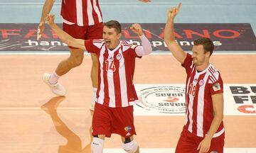 Live  score: Ολυμπιακός - Παμβοχαϊκός 3-0 (25-16, 25-23, 25-15))