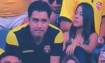 Οπαδός στο Εκουαδόρ πιάστηκε από κάμερα να ερωτοτροπεί με την παράνομη σχέση του (βίντεο)