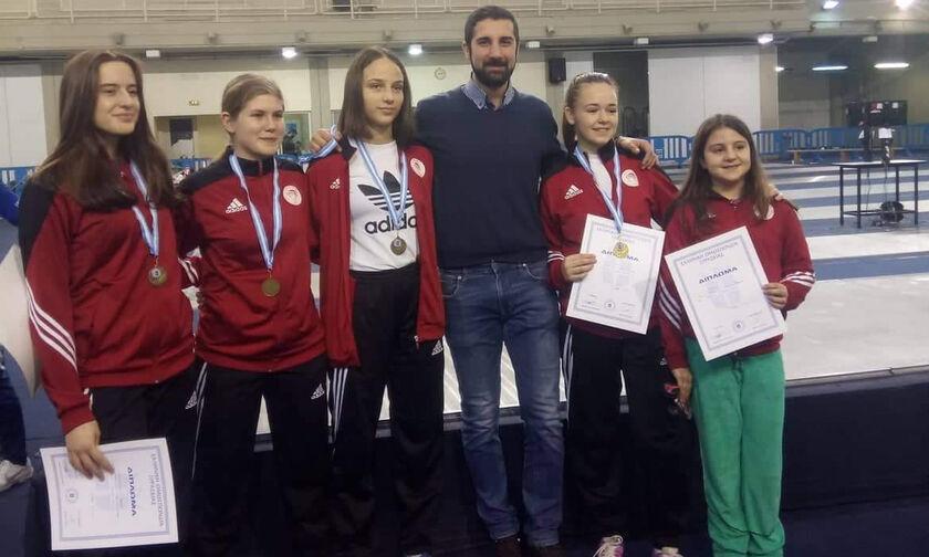 Ξιφασκία: Διακρίσεις για τον Ολυμπιακό στο ΟΑΚΑ